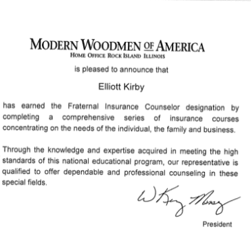 Congratulations to Elliot Kirby